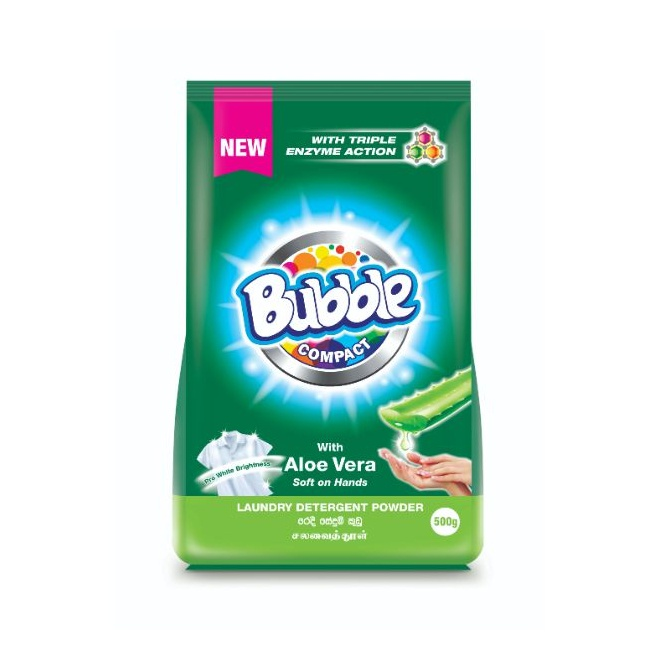 Bubble Detegent Powdr Aloe Vera 500G - in Sri Lanka