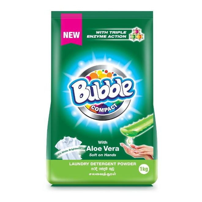 Bubble Detergent Powdr Aloe Vera 1Kg - in Sri Lanka