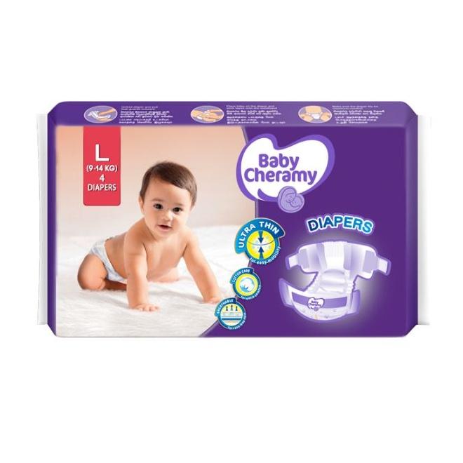 Baby Cheramy Baby Diapers L 4S - in Sri Lanka