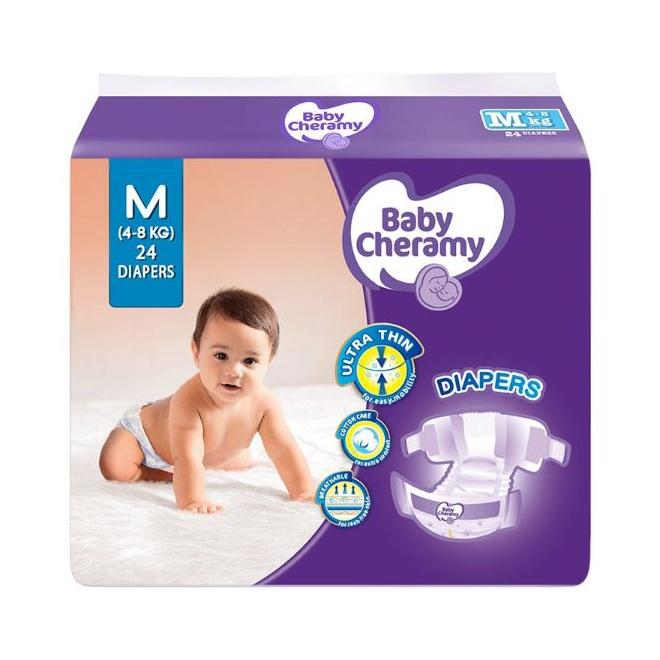 Baby Cheramy Baby Diapers M 24S - in Sri Lanka
