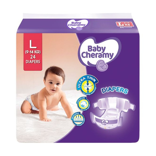 Baby Cheramy Baby Diapers L 24S - in Sri Lanka