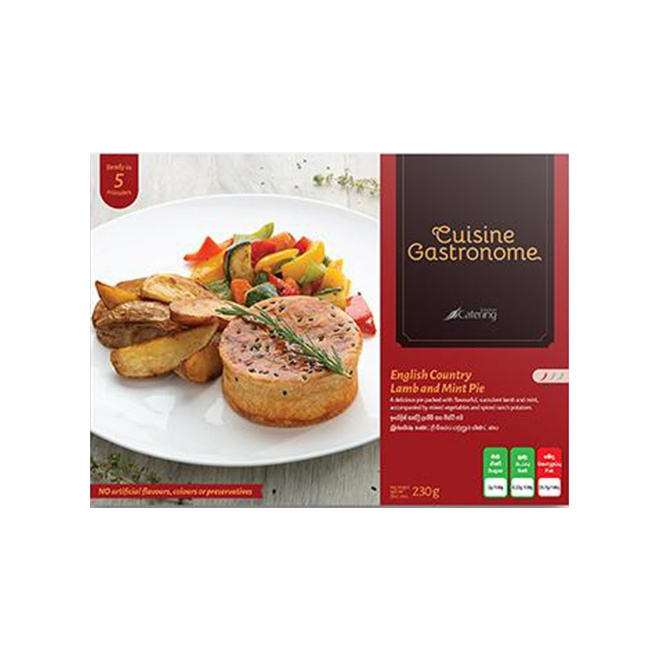 Cuisine Gastronome English Country Lamb And Mint Pie 230G - in Sri Lanka