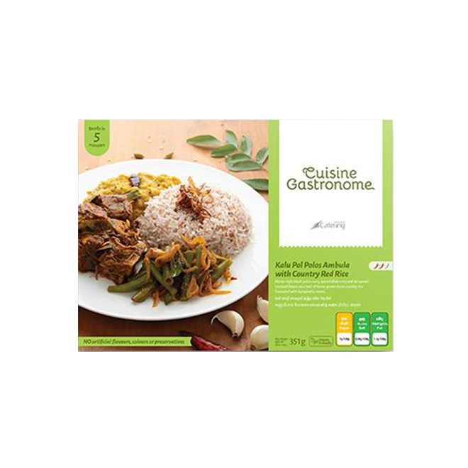 Cuisine Gastronome Kalu Pol Polos Ambula With Country Red Rice 351G - in Sri Lanka