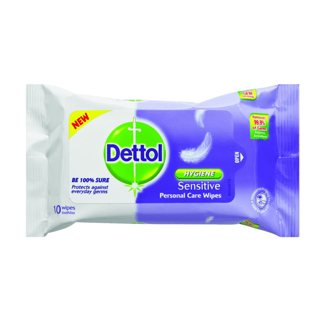 Dettol Hygiene Sensitive Wipes 10Pcs - in Sri Lanka