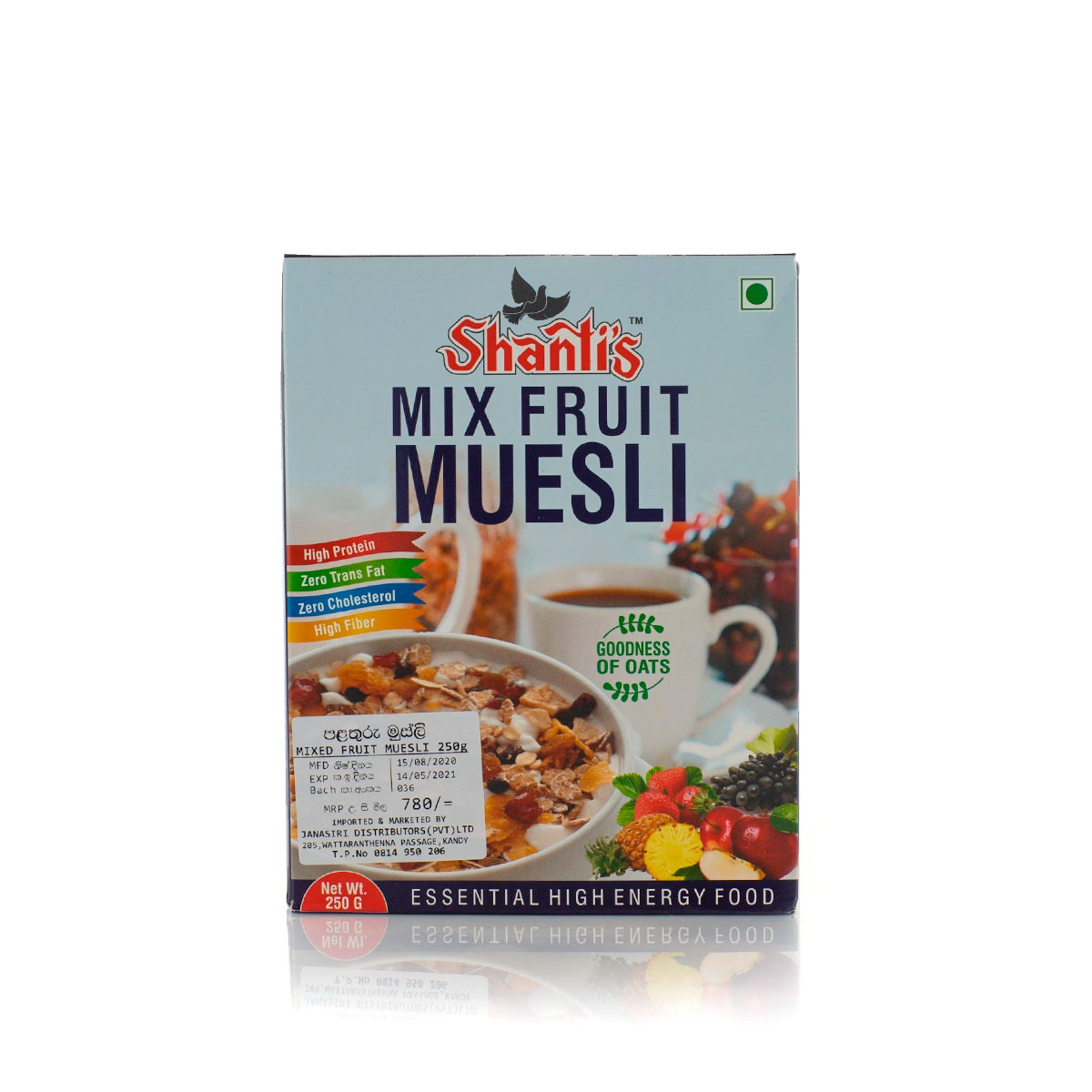 Shanti'S Mix Fruit Muesli 250G - in Sri Lanka