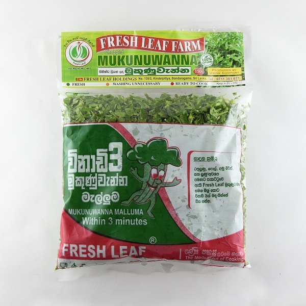 Fresh Leaf Chopped Mukunuwanna 150G Packet - in Sri Lanka