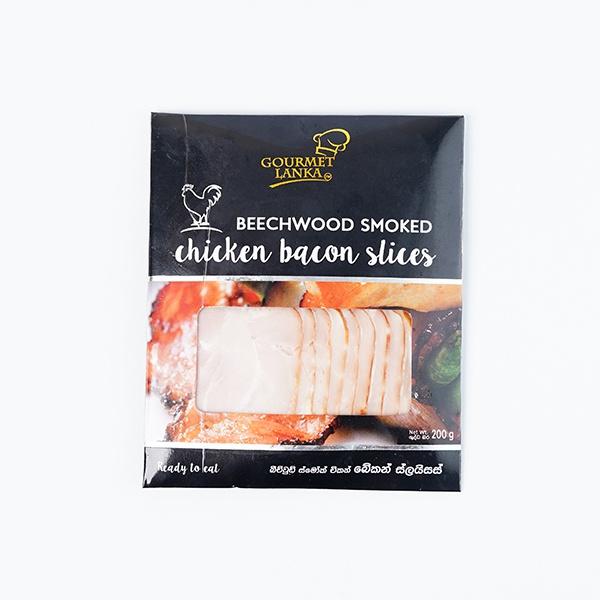 GOURMET LANKA CHICKEN BACON SLICES 200G - GLOMARK - Meat - in Sri Lanka