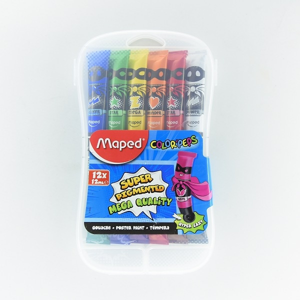 Maped Paint Gouache Tubess 12x12ml - in Sri Lanka