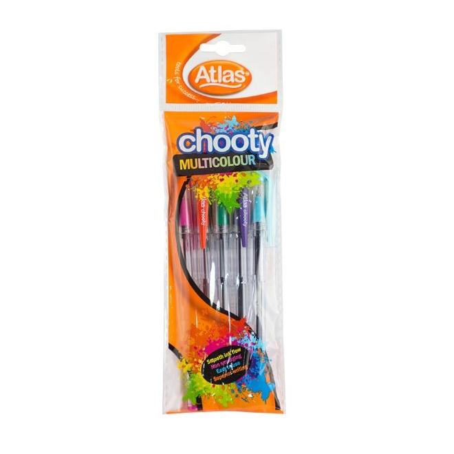 Atlas Pen Chooty Multi Color Assorted 5 Pkt - in Sri Lanka