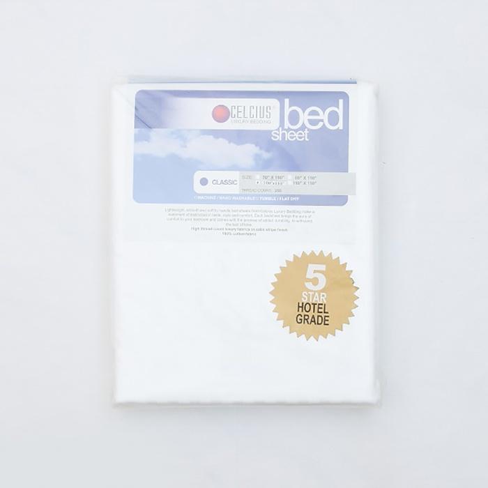 Celcius Bed Sheet White 100X110 - in Sri Lanka