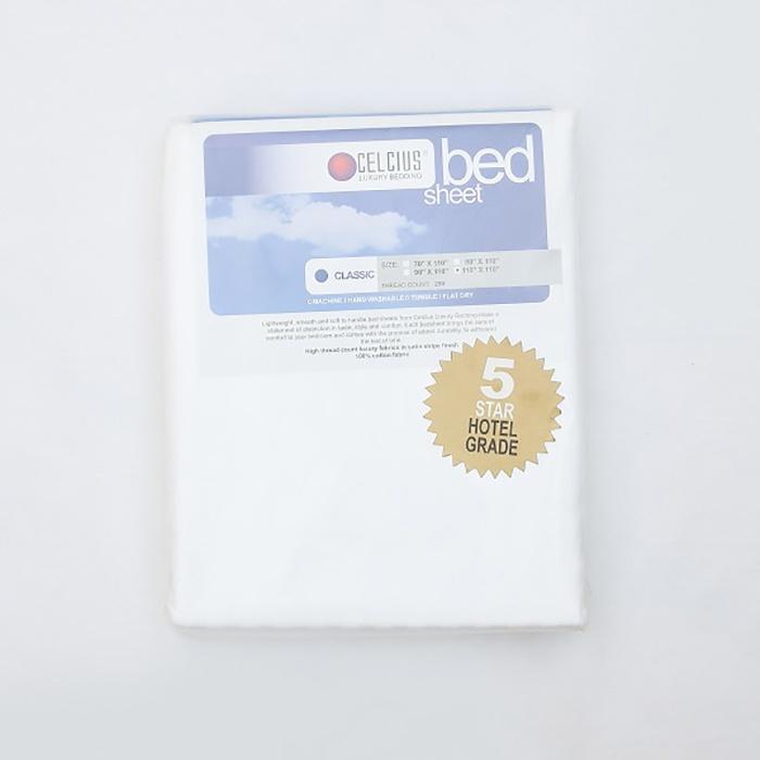Celcius Bed Sheet White 110X110 - in Sri Lanka