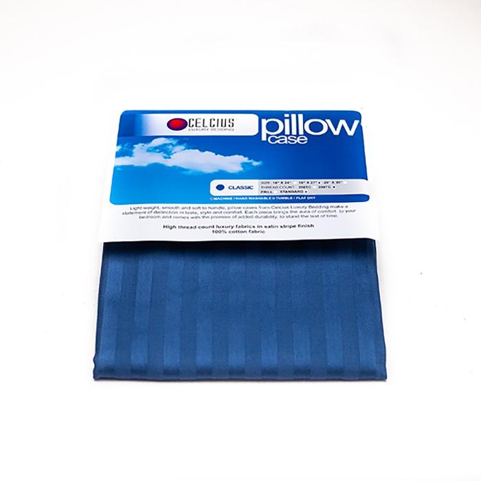 Celcius Pillow Case Plain Blue 18X27 - in Sri Lanka