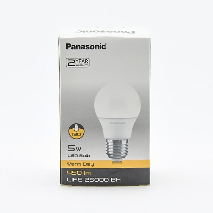 Panasonic Led Bulb 5w Warm Day Scrw 27 - in Sri Lanka