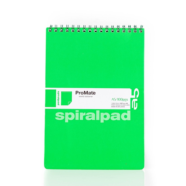 Promate Book Spiral Short A5 100P - in Sri Lanka