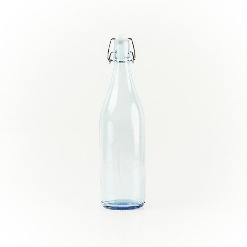 Piramal Glass Water Bottle Swing Top Blue 0.5l - in Sri Lanka