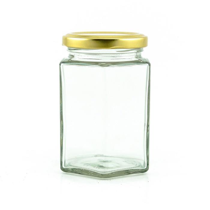 Piramal Glass Spice Jar Hexagonal 300ml - in Sri Lanka