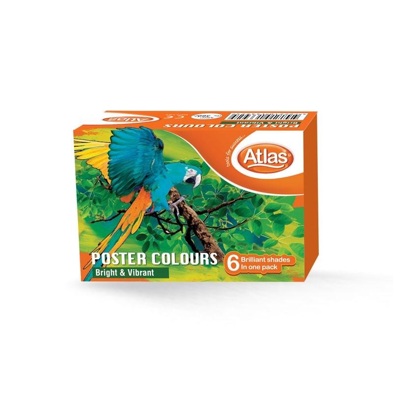 Atlas Poster Colors 6 Color - in Sri Lanka