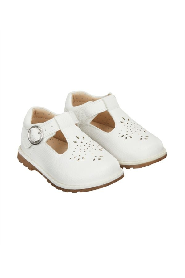 Mothercare Girls Ty Tbar Shoes / Silver