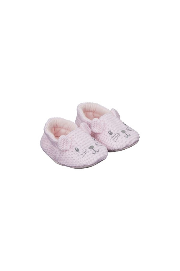Knitted Shoes /Pink First Walkers   Odel.lk